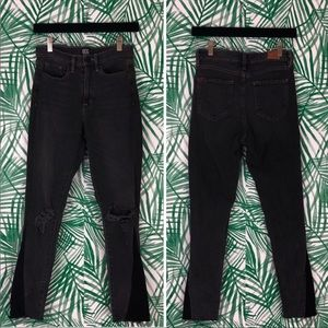 Urban Outfitters BDG Black Two Tone Raw Hem Jeans
